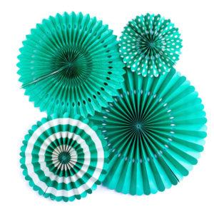 Abanicos de decoración verdes