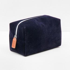 Bolso para cosméticos terciopelo azul