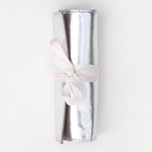 Mini rollo joyero plata brillo