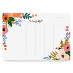Planner semanal Lively Floral