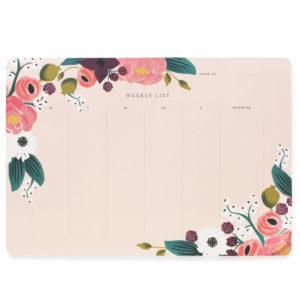 Planner Semanal Pink Floral