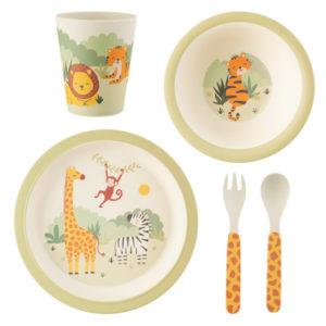 Set de platos de bambú Safari