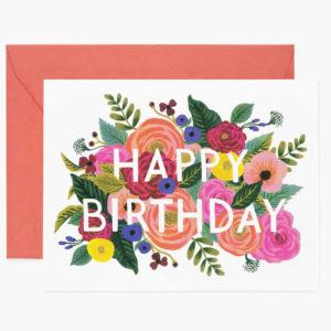 Tarjeta Juliet Rose Birthday