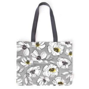Tote bag Grey Floral