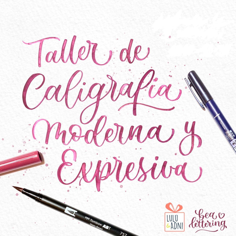 Taller de caligrafía moderna y expresiva