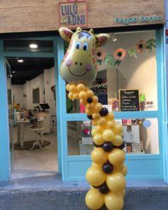 arreglo globos helio jirafa tienda valencia lulu y adni