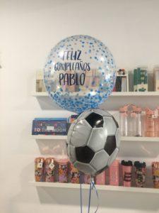 globo futbol cumpleaños niño valencia