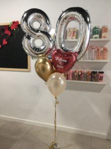 globos helio abuela 80 años Valencia Corazon personalizado purpurina