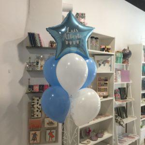 globos azules babyshower personalizados valencia