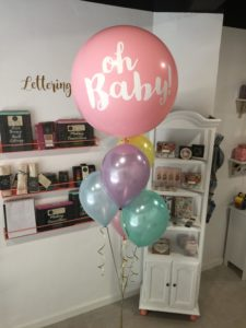 globos rosa babyshower valencia