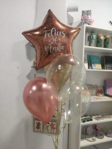 globos Valencia felicidades nombre purpurina