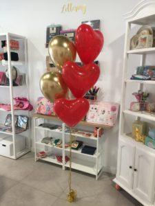 globos valencia san valentin corazon dorado