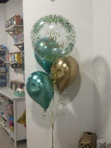 ramo cumpleaños globos helio tienda Valencia