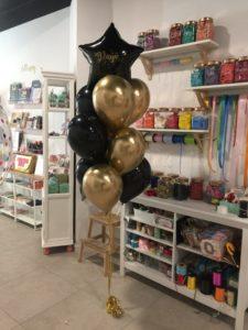 ramo globos valencia abuelo globos negros dorados