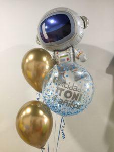 ramo globos valencia cumpleaños astronauta