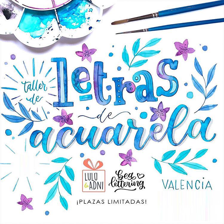 taller de letras con acuarelas Valencia