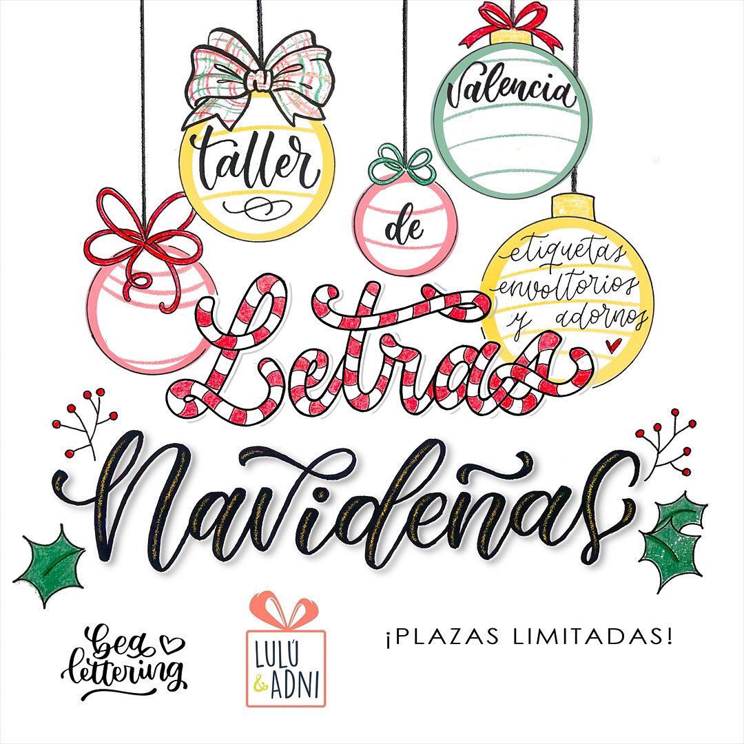 taller de lettering navidad valencia letras etiquetas adornos