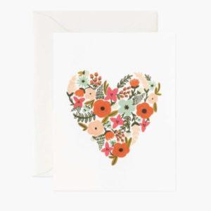 Tarjeta Floral Heart 1