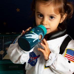 Botella para niños espacio