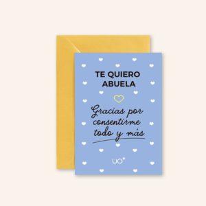 Tarjeta Te Quiero Abuela 1