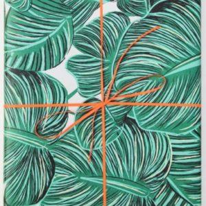 Papel de regalo hojas tropicales 1