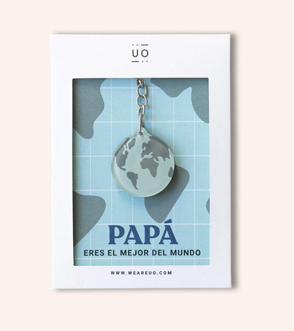 Llavero Papá eres el mejor del mundo 1