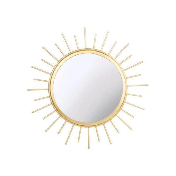 Espejo Dorado en Forma de Sol