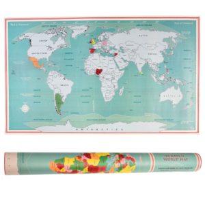 Mapa del Mundo para Rascar 1